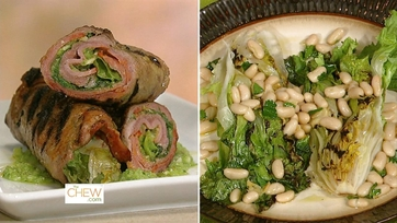 Jalapeno Pesto Braciole & Grilled Escarole with White Beans: Part 1