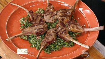 Grilled Lamb Chops with Lavender Salt w/ Quinoa Tabbouleh: Part 2