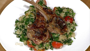 Grilled Lamb Chops with Lavender Salt w/ Quinoa Tabbouleh: Part 1