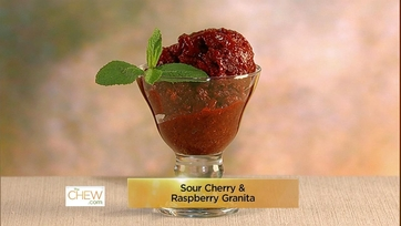 Sour Cherry & Raspberry Granita: Part 1