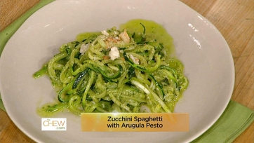 Zucchini Spaghetti with Arugula Pesto: Part 1