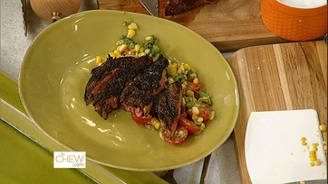 Grilled Rib Eyes with Grilled Corn Salad: Part 2
