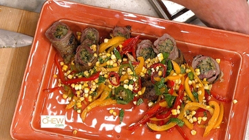 Grilled Steak with Charred Corn & Pepper Salad: Part 2