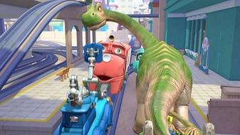Wilson Meets A Dinosaur