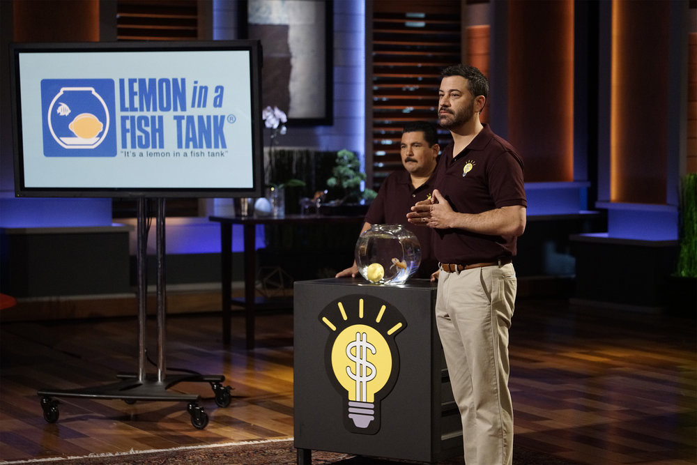 3fa0d587ac2 Jimmy Kimmel Returns to  Shark Tank  to Pitch His Newest Idea ...