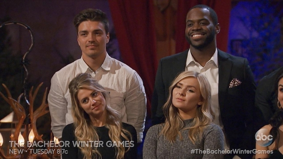 watch 39 the bachelor winter games 39 episode 3 sneak peek kissing competition video the. Black Bedroom Furniture Sets. Home Design Ideas