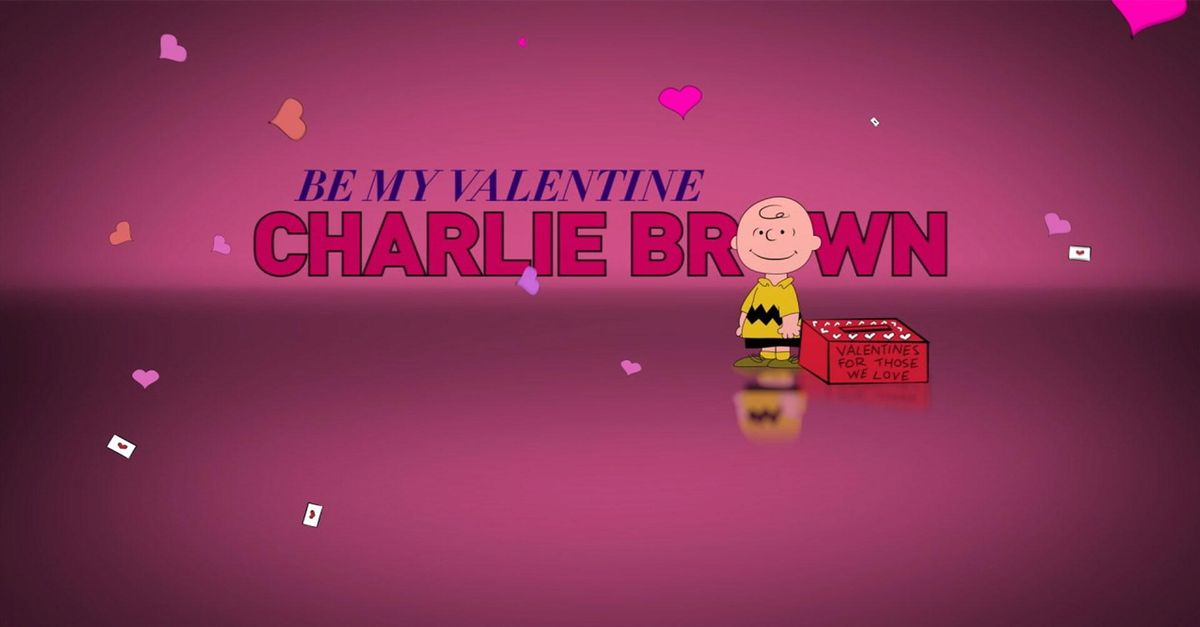 Be My Valentine Charlie Brown A Charlie Brown Valentine
