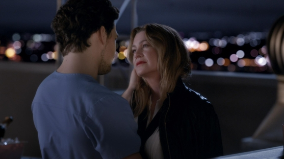 WATCH: Meredith and DeLuca Finally Kiss Video | Grey's Anatomy