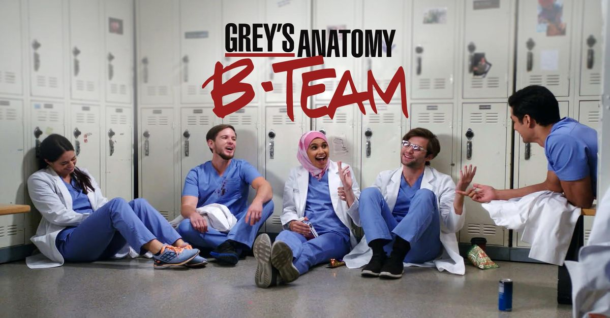 Watch Greys Anatomy B Team Tv Show Abc