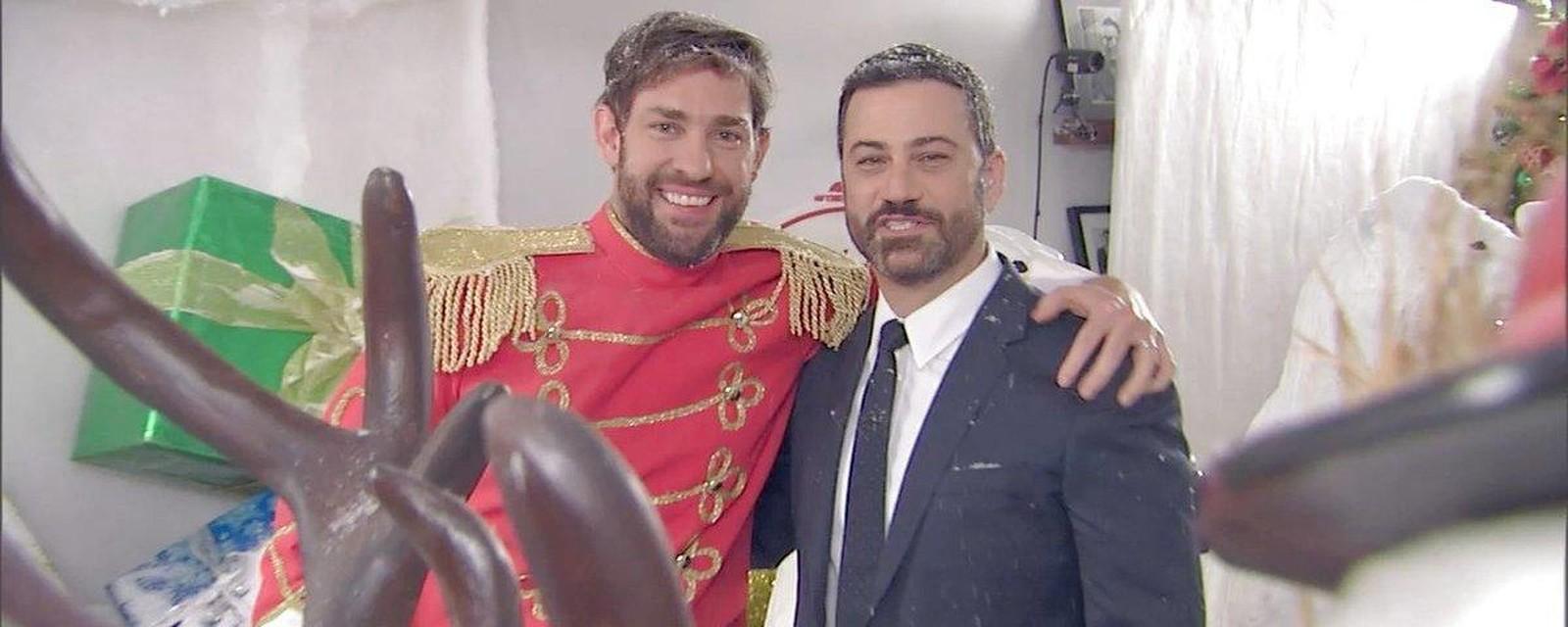Watch John Krasinski and Jimmy Kimmel\'s Christmas Prank War   Jimmy ...