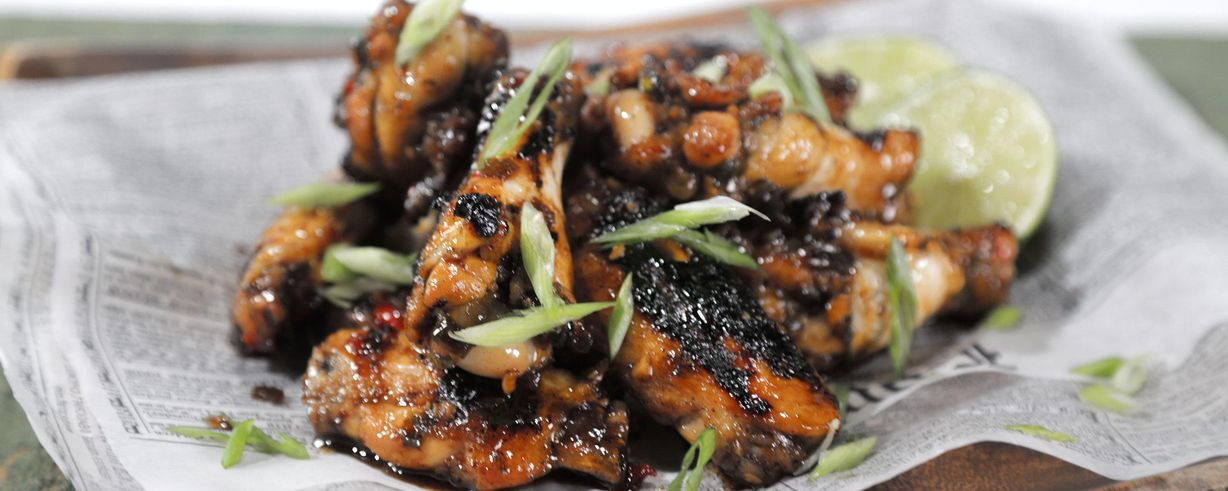 Spicy rum marinated grilled chicken wings recipe the chew abc forumfinder Images