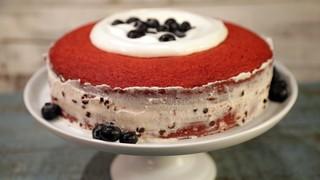 The Chew Red Velvet Cannoli Cake