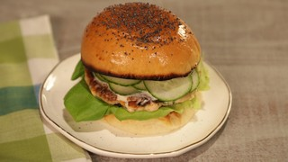 Salmon Burger with Dill and Cucumber Recipe   The Chew ...