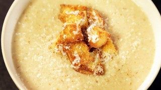 Roasted Cauliflower Soup with Parmesan Croutons Recipe ...