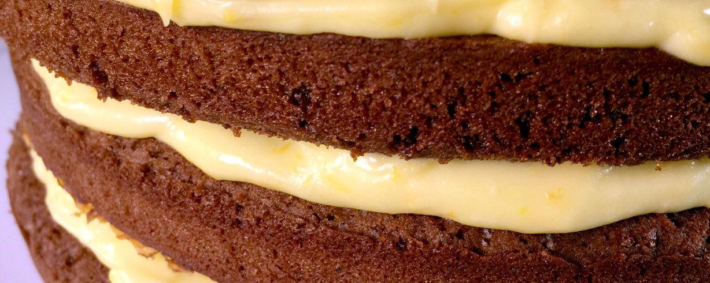 Chocolate Gingerbread Cake With Orange Curd Cream Recipe The Chew