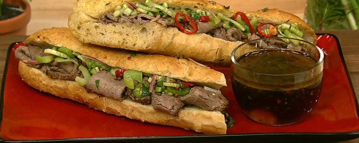 chicago style italian beef sandwich recipe the chew abc com