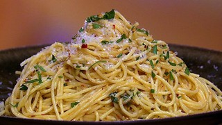 Angel Hair With Olive Oil Garlic And Chili Flake Recipe The Chew