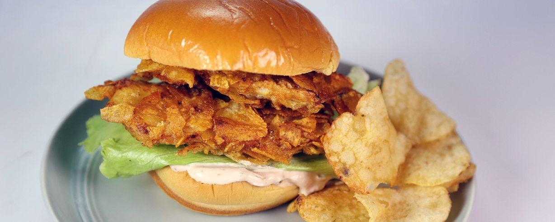 Salt and vinegar chicken sandwich recipe the chew abc forumfinder Images